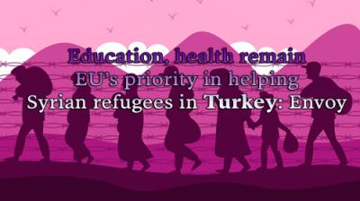 Education, health remain EU's priority in helping Syrian refugees in Turkey: Envoy